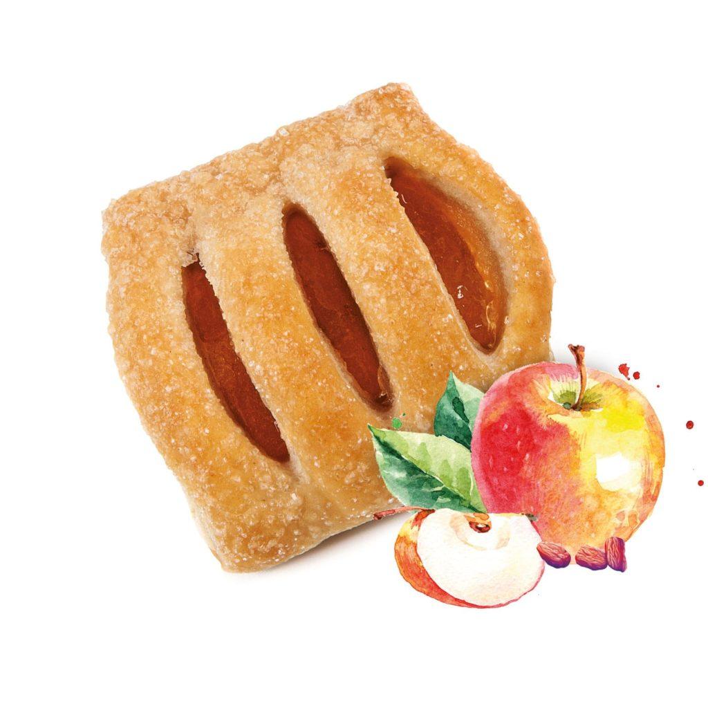 photo Mini strudel with Apple and Raisins Filling
